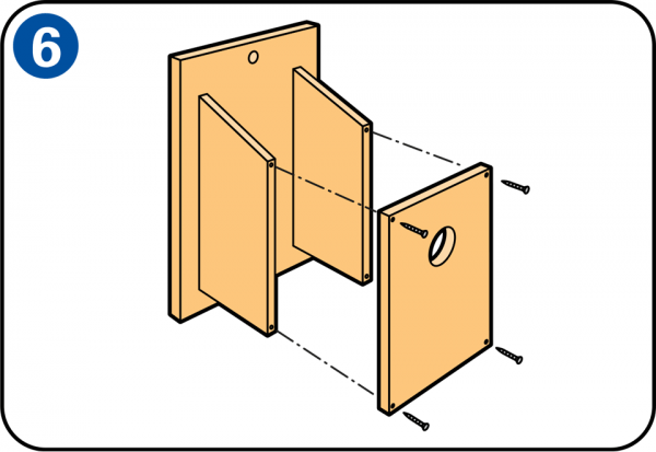 Souvent Realizza con il legno la tua casetta nido per uccelli RB42