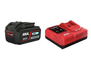 SKIL 3111 AA Batteria al litio ('20V Max' (18 V) 4,0 Ah 'Keep Cool') e caricatore 'Rapid'